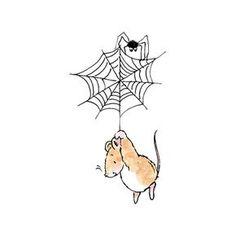 Scare in the Air! Penny Black, Inc. Cartoon Drawings, Easy Drawings, Animal Drawings, Penny Black Stamps, Halloween Clipart, Cute Mouse, Kawaii, Cute Illustration, Artist Art