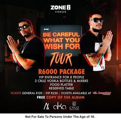 THIS FRIDAY WE LAUNCH #BCWYWF AT @Zone6Venue 🇿🇦® BUY A TICKET, GET a FREE COPY OF THE ALBUM YA DIG?!?! 🔥BOOK @computicket right now!!
