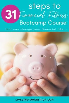 Do you feel like you are never going to make it out of debt? If so, you're in the right place. Check out this step-by-step financial fitness Bootcamp course - this FREE course and it is for everyone.    You will go through 31 steps. Each step is a task or challenge. You'll get access to financial principles that work, helpful and effective pointers, money-saving, and money-making tips. #financialfitness #debtfree