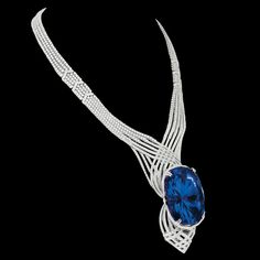 "The largest tanzanite ever offered at auction. The ""Namunyak"" Tanzanite. Tanzanite and diamond pendent necklace, Kat Florence."