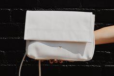 White Frannie Vegan Leather Bag www.velmavie.com