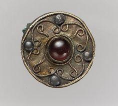 Disc Brooch  7th Century AD  Frankish  (Source: The Metropolitan Museum)