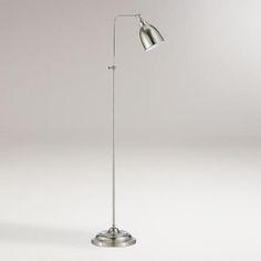 Brushed Steel Pharmacy Floor Lamp $139.99