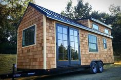 Energy Efficient Home Upgrades in Los Angeles For $0 Down -- Home Improvement Hub -- Via - Tiny house shell built by Tiny house basics in California. This shell has cedar shakes that look amazing as well as the highest quality windows and french doors from Milgard essence series. The shell also has a 12 foot dormer set up for a large 100 square foot loft. We are very sad to have…