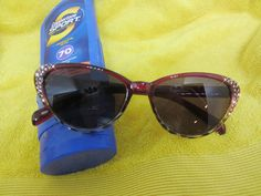 62e73b41c89e Holiday cat-eye sun readers with a touch of bling. Full lens reading glasses  (not bifocal) Perfect for poolside, beachside, lakeside, and everywhere the  sun ...