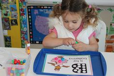 Like the painted tray idea as a focused learning center instead of the bare kitchen table.