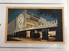Earl Carroll Theater Restaurant Hollywood California Vintage Postcard Night Spot
