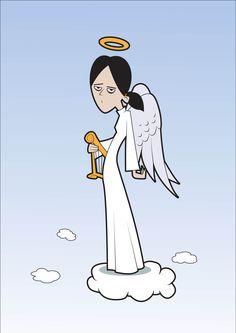 Unimpressed angel