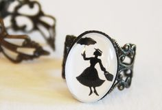 Love the Mary Poppins silhouette ring