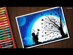 Fairy Dream scenery drawing with Oil Pastels - step by step - YouTube