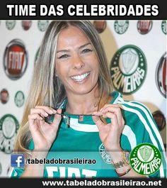 Adriane Galisteu torce pelo Palmeiras