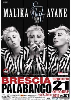 Malika Ayane approda a Brescia per il Naïf tour 2015 mercoledì 21 ottobre 2015 @gardaconcierge