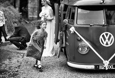 Classic Volkswagen Microbus as Wedding Car