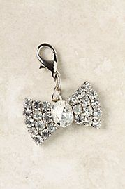 The Collector's Charm, Rhinestone Bow handmade exclusively for Anthropologie by Maximal Art's John Wind in Anthropologie's hometown of Philadelphia. Was Now (As of 22 May, Rhinestone Bow, Cute Charms, Makeup Items, Little Bow, Lucky Charm, Charmed, Bling, Bows, Drop Earrings