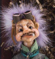 OOAK Goblin Art Doll Posable Watchmaker Troll Fairy Fantasy Hand Made by Nina | eBay