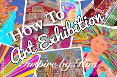 How To - First Art Exhibition - Learnings and Tips on how to display your art, craft creations #inspirebykim #artexhibition #displayart