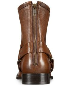 Frye Men Phillip Harness Motorcycle Ankle Boots Cognac Leather Sock Shoes, Shoes Heels Boots, Heeled Boots, Ankle Boots, Men's Boots, Leather T Shirt, Boots Online, Dresses With Leggings, Bag Accessories