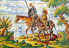 Don Quixote Sancha Panza Enroute Royalty Free Stock Photo - Image: 3607865