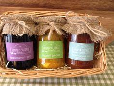 Homemade jams, pickles and chutneys - 3 jar gift set