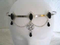 Priestess Pentacle Circlet wiccan jewelry pagan by Sheekydoodle, $32.00