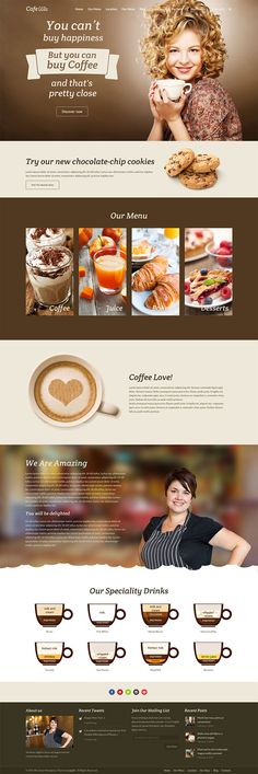 Cafe Wiz - A Wiz Theme demo for cafes, coffee shops and pubs websites. Wiz is a highly customizable multipurpose WordPress Theme with multiple demos that allows you to build whatever website you need. Click on Visit Site to download.