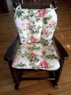 Child Rocking Chair Cushions   Farrell Multi Pink Floral