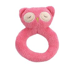 Pink Owl Ring Rattle