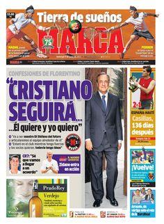 'Cristiano seguirá' | La portada del 9 de junio de 2013