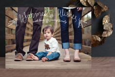 The Warmest Wishes Holiday Photo Cards by Sharon Rowan at minted.com