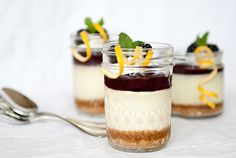 blackberry curd cheesecake in a jar recipe | use real butter