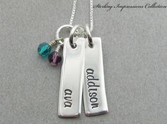 Personalized Jewelry  Hand Stamped by DivineDesignJewelers on Etsy