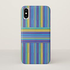 blue yellow stripes phone case - diy cyo customize create your own personalize