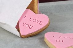 DIY Valentine's Day Cookies with Love Messages
