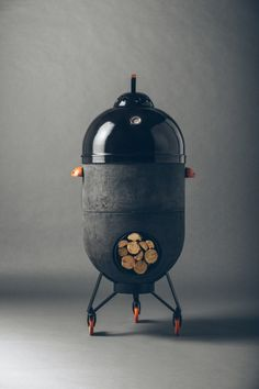 Rocket stove can be used as a barbecue, pizza oven or fire pit - Best Image Portal Barbecue Pizza, Bbq Grill, Grilling, Rocket Stove Design, Outdoor Kitchen Bars, Outdoor Kitchens, Fire Pit Designs, Rocket Stoves, Charcoal Grill