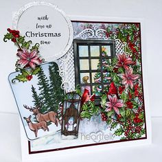 Winter's Glory project w/ Winters Eve collection from #HeartfeltCreations