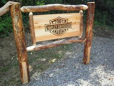 Aspen Log Harley Bed with Handburnt Image..(Complete Bed) many images to select from or purchase with plain headboard... (814) 257-8911 or facebook at Old Farm Amish Furniture for a complete line of rustic log amish made furniture in aspen, sassafras, hickory, peeled pine, cedar and more :)