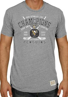 76fe3998a2f47 Pittsburgh Penguins 2016 4 Time Stanley Cup Champions Hockey Puck T-Shirt