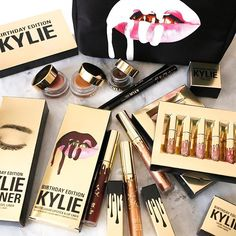 @kyliecosmetics: BIRTHDAY COLLECTION. available tomorrow at 3pm until Kylie's Birthday, August 10th. What do you guys think?!!!!