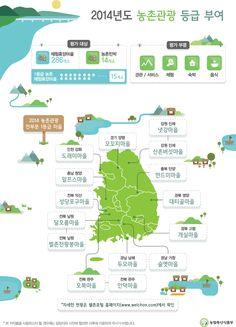 농식품부, 2014년도 농촌관광 등급 부여…1등급 마을은 어디? [인포그래픽] #rural sightseeing / #Infographic ⓒ 비주얼다이브 무단 복사·전재·재배포