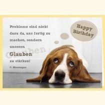 Doppelkarte - Happy Birthday - Glauben