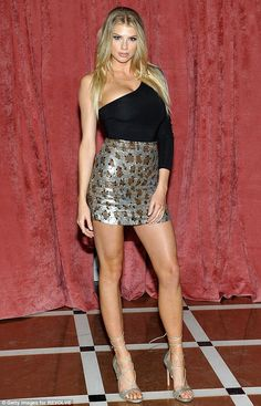 Make it a mini with Charlotte's LPA leopard print skirt. Click 'Visit' to buy now. #DailyMail