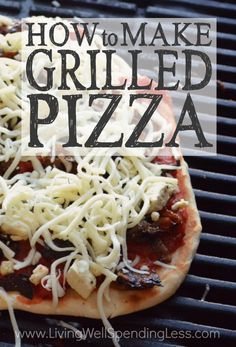 Think grilling pizza is best left to the professionals?  Think again!  These easy-to-follow, step by step instructions will show you exactly how to make delicious homemade pizza right on your very own grill!  The perfect budget friendly summer meal!