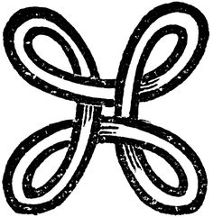 Bowen Knot, Shield Knot, universal symbol of protection.
