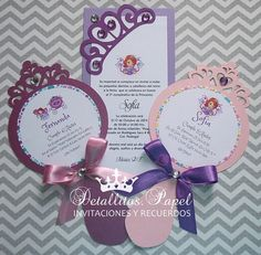 Invitations Princess Sofia mirror birthday by Detallitospapel