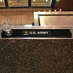 "U.S. Army 3.25"""" x 24"""" Bar Drink Mat"