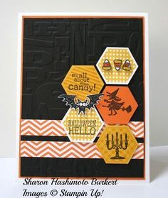 Halloween Hello Six Sided Sampler #diy #crafts