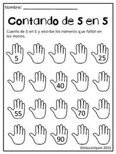 Documento pdf con dos worksheets para practicar escribir los nmeros de 5 en 5.Si te gusta mi trabajo por favor deja feedback!Gracias!Jeannette