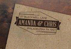 Personalized Address Stamp • Geometric Rubber Stamp • Custom Return Address • Modern Wooden Handle by inkandwaterdesigns on Etsy https://www.etsy.com/listing/173099158/personalized-address-stamp-geometric
