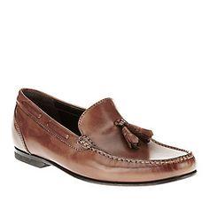 "Bostonian ""Studio Springs"" Slip-On Shoes in Tan."