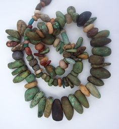 An on-line bead discussion forum for collectible beads. African Trade Beads, African Jewelry, Tribal Jewelry, Beaded Jewelry, Jewellery, Stone Jewelry, Polymer Clay Kunst, Polymer Clay Jewelry, Ceramic Jewelry